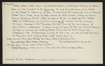 Macdonald Dictionary Record: John Franks
