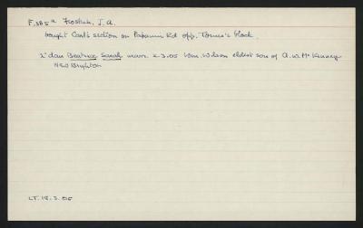 Macdonald Dictionary Record: J A  Frostick