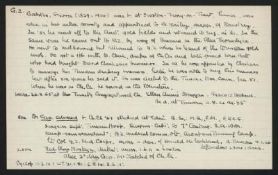 Macdonald Dictionary Record: George Gabites