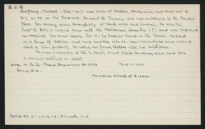 Macdonald Dictionary Record: Michael Gaffney