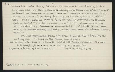 Macdonald Dictionary Record: Robert Henry Gainsford