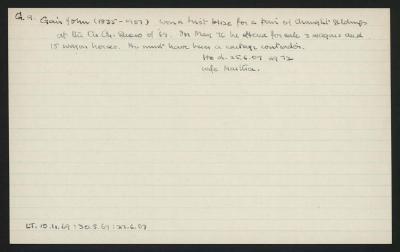 Macdonald Dictionary Record: John Gair