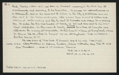 Macdonald Dictionary Record: Charles Gale