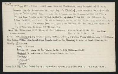 Macdonald Dictionary Record: John Galletly