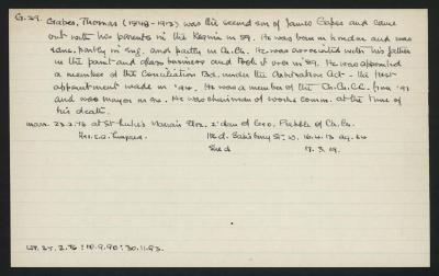 Macdonald Dictionary Record: Thomas Gapes