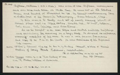 Macdonald Dictionary Record: William Gifkins