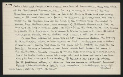 Macdonald Dictionary Record: Edmund Douglas Giles