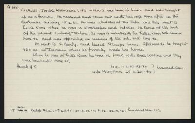 Macdonald Dictionary Record: Joseph Robinson Gilliat