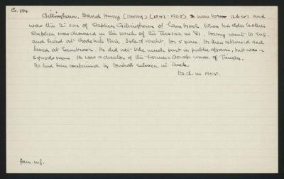 Macdonald Dictionary Record: David Henry (Harry) Gillingham