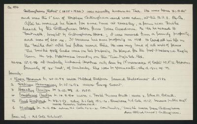 Macdonald Dictionary Record: Robert Gillingham