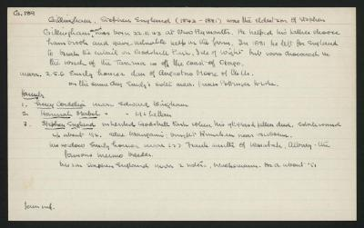 Macdonald Dictionary Record: Stephen England Gillingham