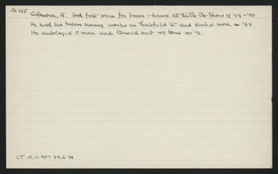 Macdonald Dictionary Record: R Gilmour