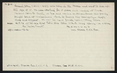 Macdonald Dictionary Record: John Gracia