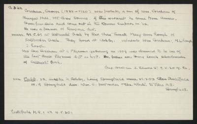Macdonald Dictionary Record: George Graham