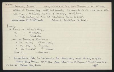 Macdonald Dictionary Record: James Graham