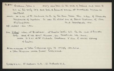 Macdonald Dictionary Record: John Graham