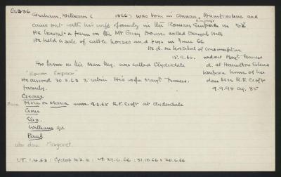 Macdonald Dictionary Record: William Graham