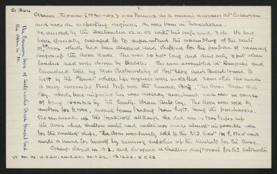 Macdonald Dictionary Record: Thomas Grange