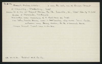 Macdonald Dictionary Record: Grigor Grant