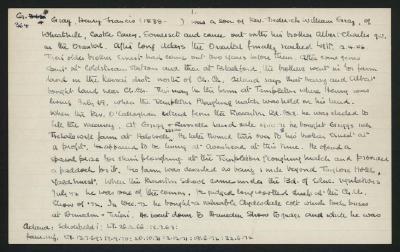 Macdonald Dictionary Record: Henry Francis Gray