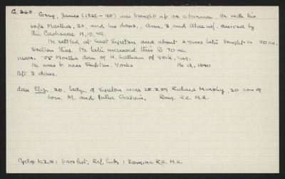 Macdonald Dictionary Record: James Gray