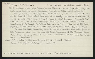 Macdonald Dictionary Record: Keith Forbes Gray