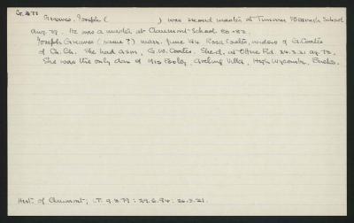 Macdonald Dictionary Record: Joseph Greaves
