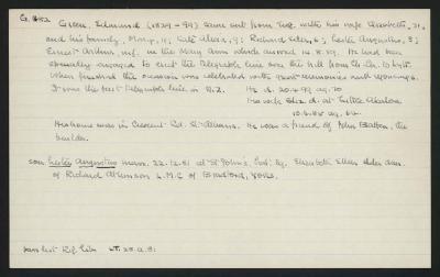 Macdonald Dictionary Record: Edmund Green