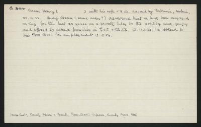Macdonald Dictionary Record: Henry Green