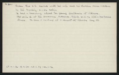 Macdonald Dictionary Record: S D Green