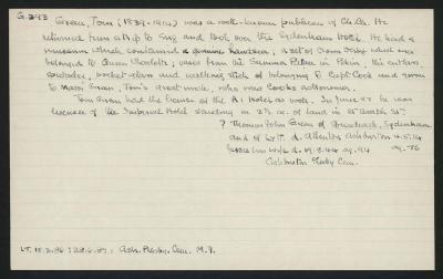 Macdonald Dictionary Record: Tom Green