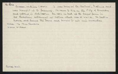 Macdonald Dictionary Record: William Greene