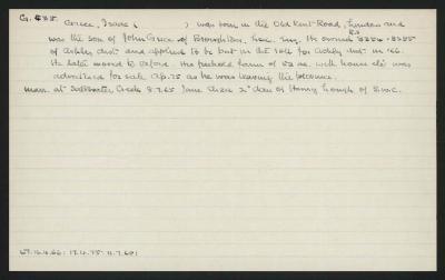 Macdonald Dictionary Record: Isaac Grice