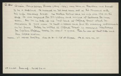 Macdonald Dictionary Record: Christopher Grieve
