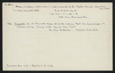 Macdonald Dictionary Record: William Grose