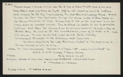 Macdonald Dictionary Record: James Grubb