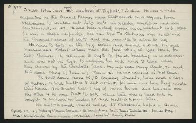 Macdonald Dictionary Record: John Grubb