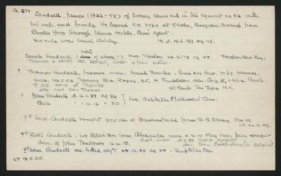 Macdonald Dictionary Record: James Gudsell