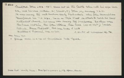 Macdonald Dictionary Record: John Guilford