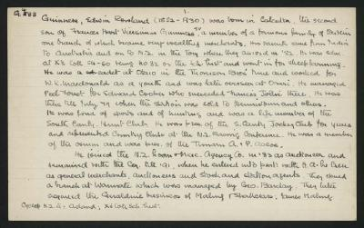 Macdonald Dictionary Record: Edwin Rowland Guinness
