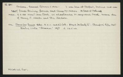 Macdonald Dictionary Record: Samuel Patterson Guiney