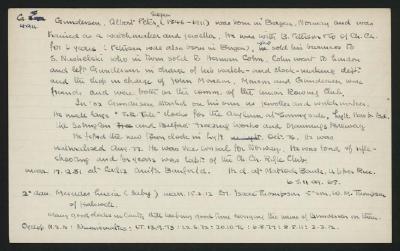 Macdonald Dictionary Record: Albert Peter Sagen Gundersen