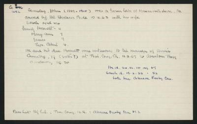 Macdonald Dictionary Record: John Gundry