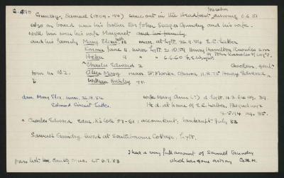 Macdonald Dictionary Record: Samuel Gundry