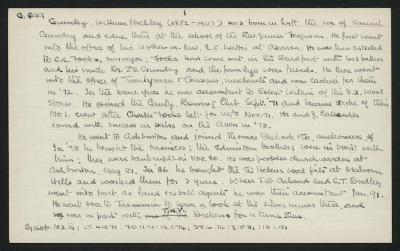 Macdonald Dictionary Record: William Hickley Gundry