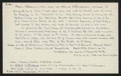 Macdonald Dictionary Record: Alexander Gunn