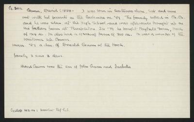 Macdonald Dictionary Record: David Gunn