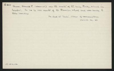Macdonald Dictionary Record: Donald P Gunn