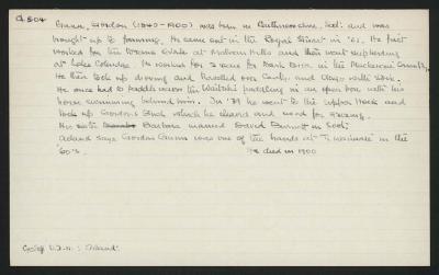 Macdonald Dictionary Record: Gordon Gunn