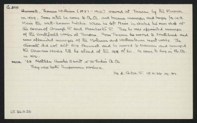 Macdonald Dictionary Record: Thomas William Gunnell